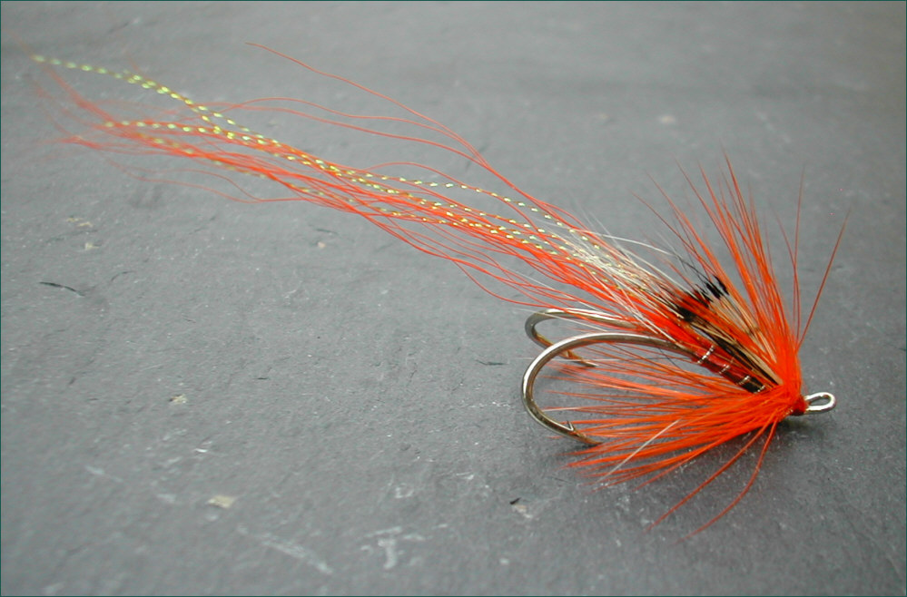 Sea Trout Doubles Orange Alley Shrimps Salmon