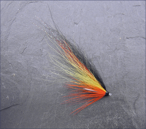 Orange Blackback Salmon Tube Fly