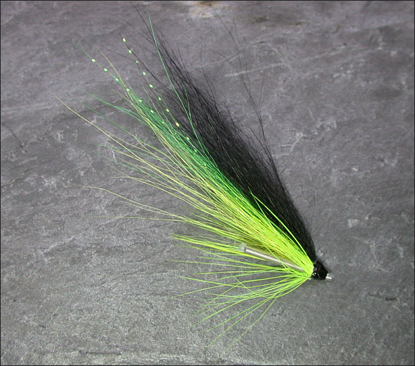 Green Blackback salmon tube fly