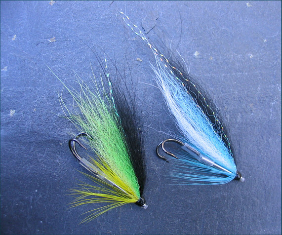 Blackback Salmon Tube Fly Doubles