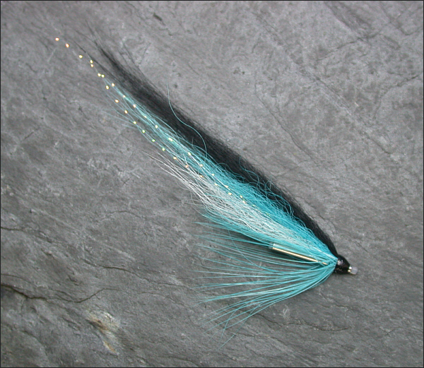 Blue Blackback salmon tube fly