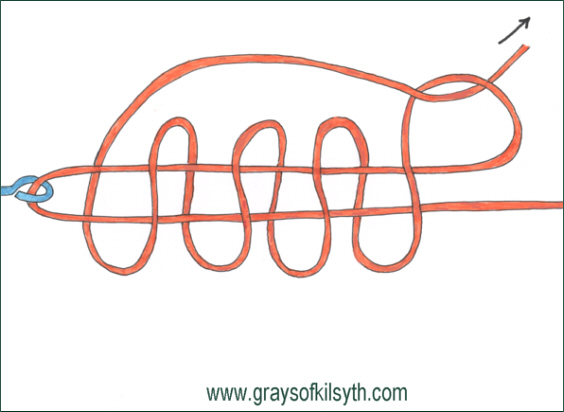 how to tie a fly line leader knot