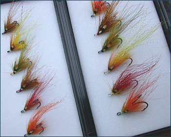Flamethrower Salmon Fly Selection