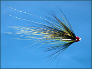 A salmon mini tube fly