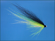 A Blackback salmon tube fly