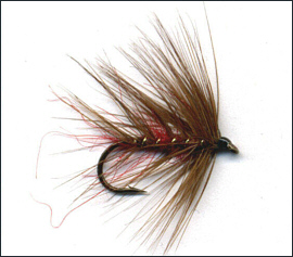 Red Palmer Trout Fly