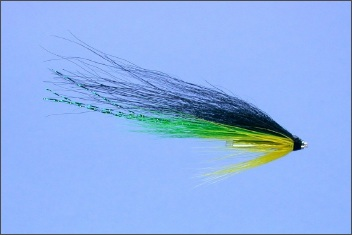 Green and Yellow Wee Monkey Salmon Tube Fly